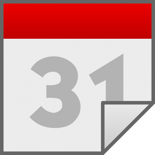 calendar date number