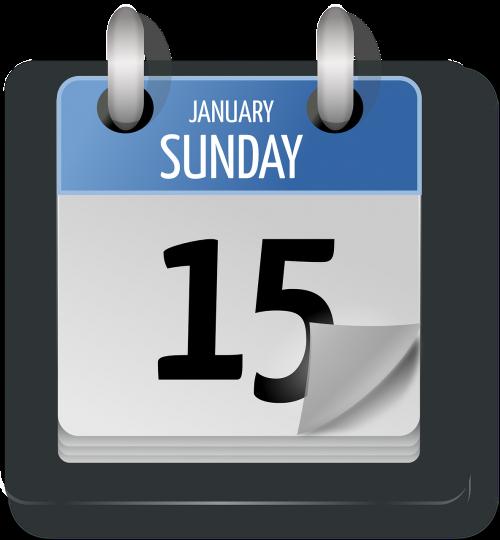 calendar date sunday
