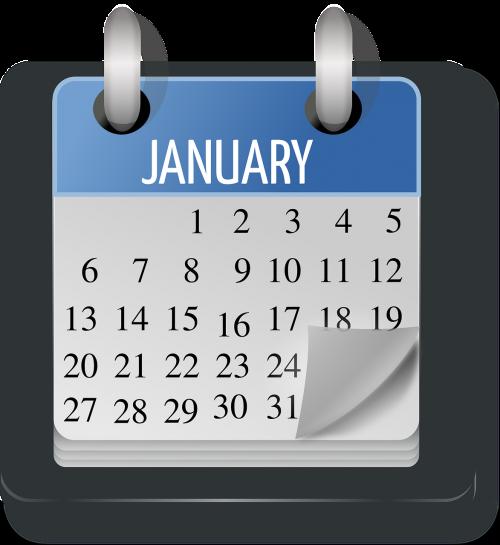 calendar january month