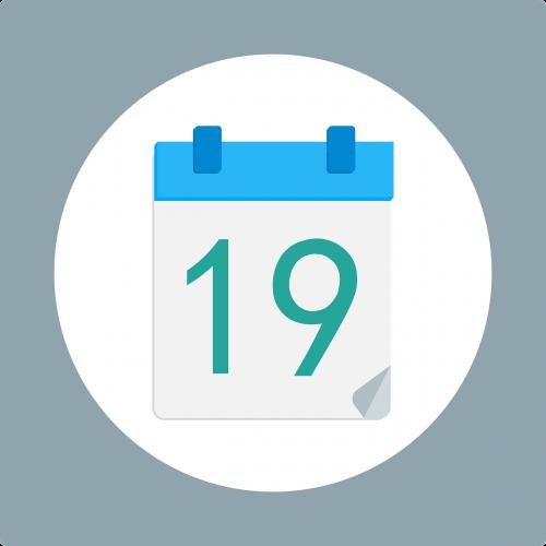 calendar number flat design