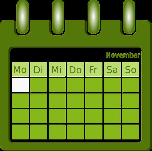 calendar organization planning