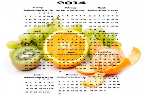 Calendar 2014 - Fruit