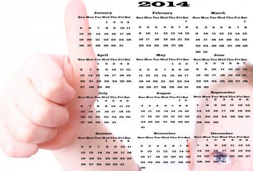 Calendar 2014 - Thumbs Up