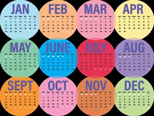 calendar business 2018