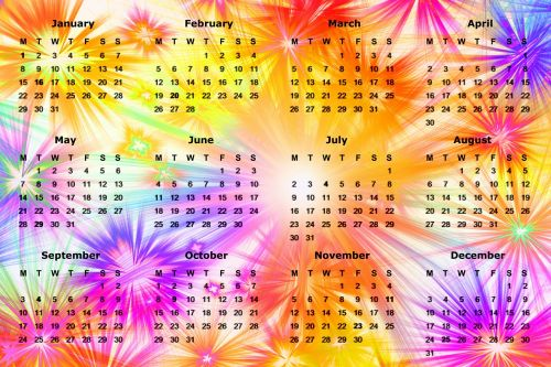 calendar new year's day new year's eve