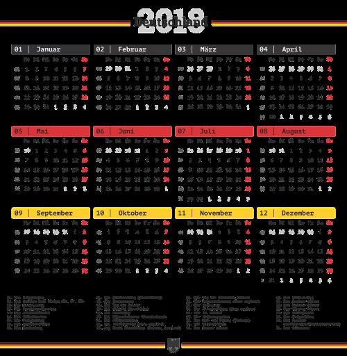 calendar germany transparent background