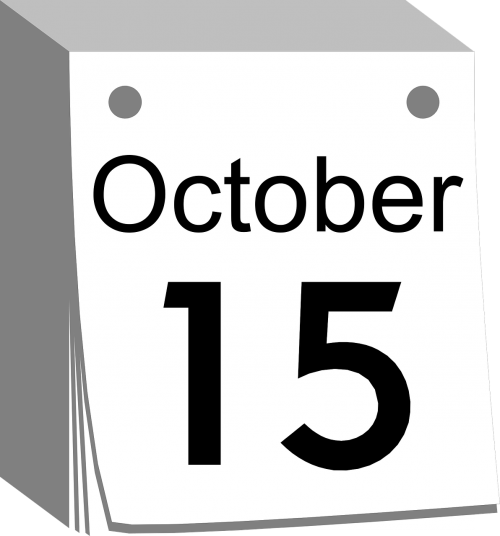 calendar october 15
