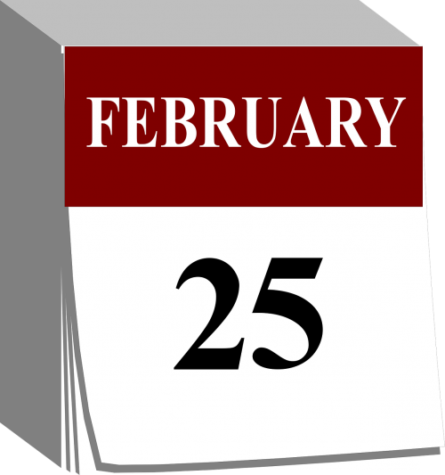 calendar tear away date