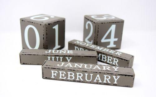 calendar months wood