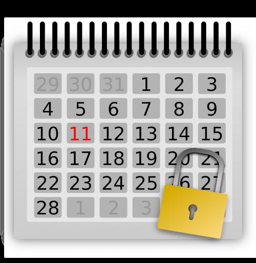 calendar days locked