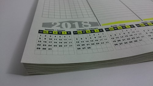 calendar  planer  recycled paper