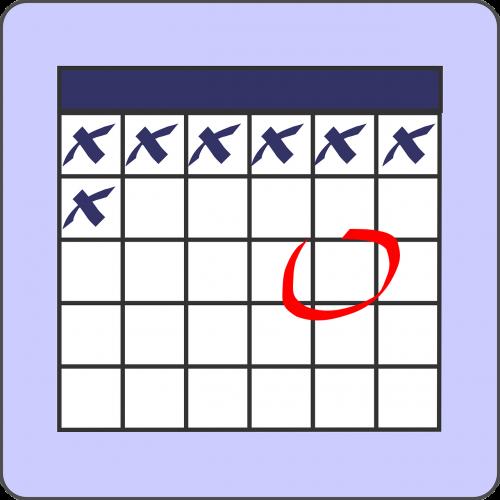 calendar list note