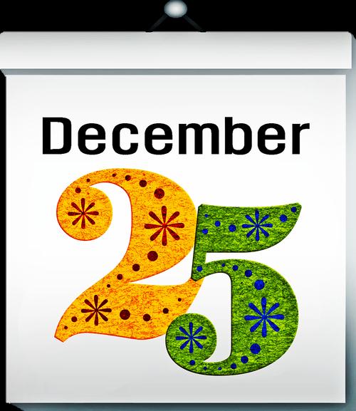 calendar  december 25  christmas