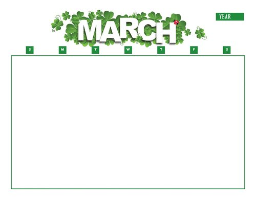 calendar  march  year