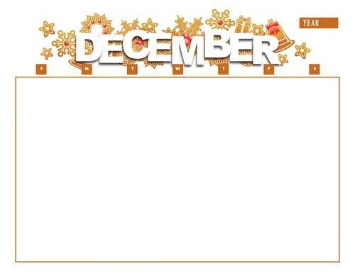 calendar  december  year