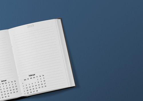calendar  book  2019