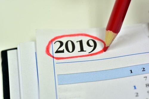 calendar  2019  year