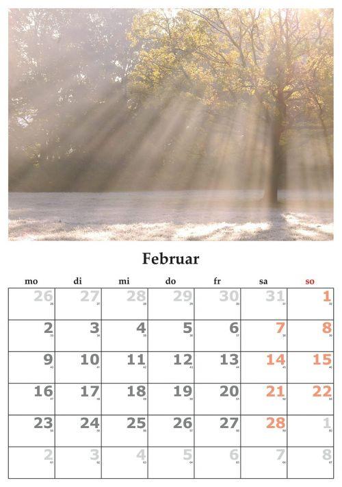 calendar month february