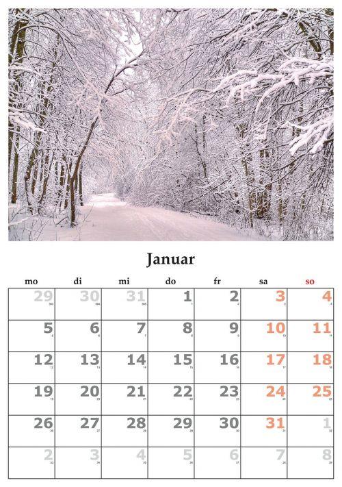 calendar month january