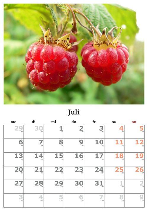 calendar month july