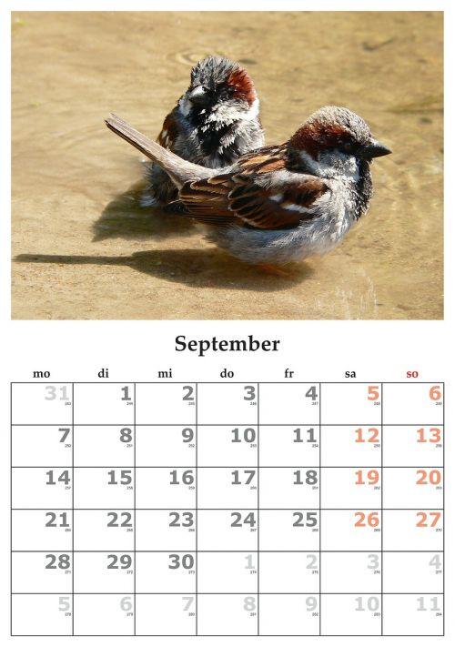 calendar month september