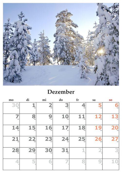 calendar month december