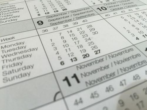 calendar date dates