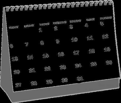 calendars dates 2009