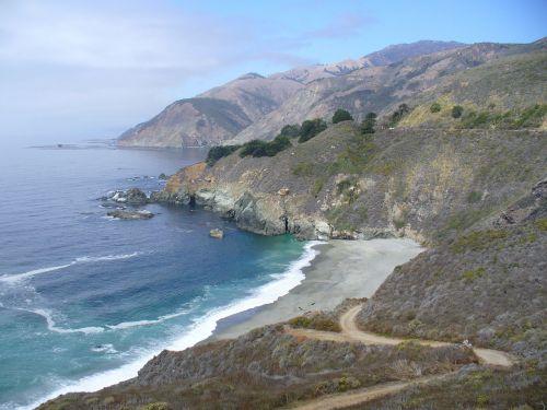 Kalifornija,pajūris,kelyje,kelionė,vandenynas,jūra,papludimys,jūros dugnas,vanduo,banga,kranto,pakrantės,jūrų,pakrantė,vaizdingas,lauke,gamta,aplinka,pajūryje