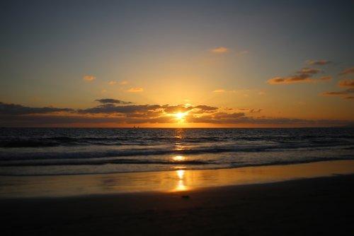 california  beach sunset  newport