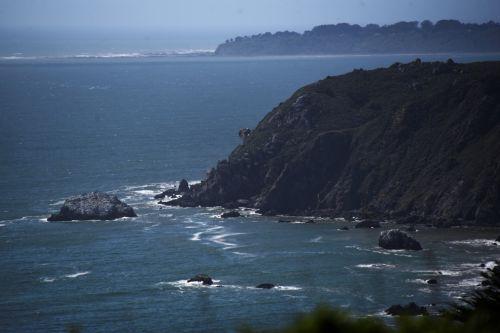 Kalifornija, kranto, kelionė, vaizdas, kraštovaizdis, jūros dugnas, vandenynas, pakrantės & nbsp, peržiūra, kranto linija, pakrantė, žalias, mėlynas, kalifornijos pakrantė