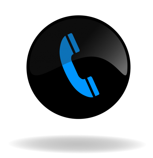 call call button black and blue button