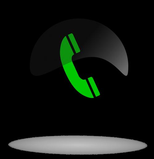 call call button black and green button