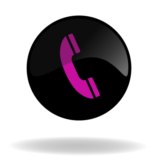 call call button black and pink button