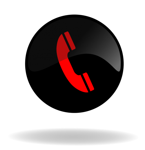 call call button black and red button