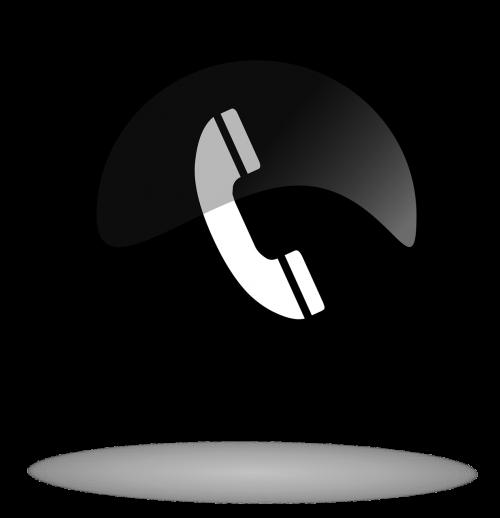 call call button black and white button