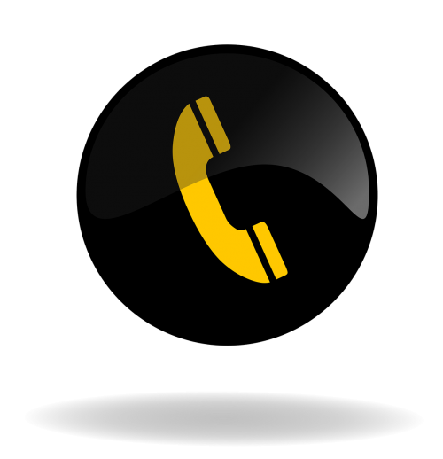 call call button black and yellow button