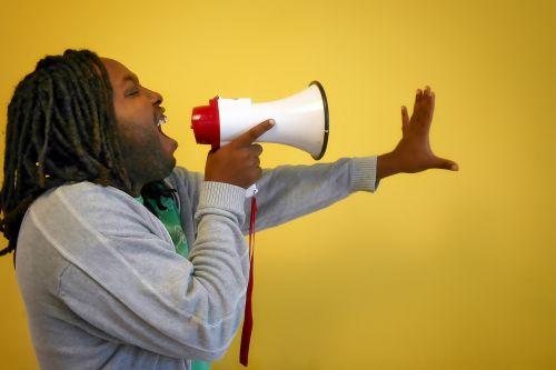 call afro megaphone