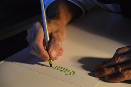 kaligrafija, rašymas, rankos & nbsp, rašymas, verda, kaligrafija