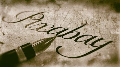calligraphy pixabay vintage