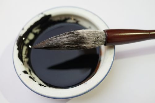 calligraphy brush ink well chinese calligraphy