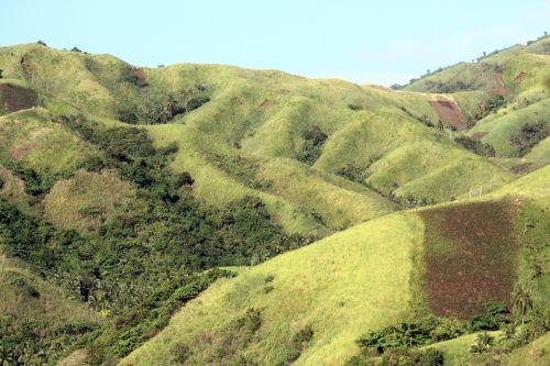 kalnas, žalias kalnas, debesys, gamta, miškas, medžiai, lapai, žalias, žalias & nbsp, ūkis, ūkis, dangus, kraštovaizdis, camarinas sur, Filipinai