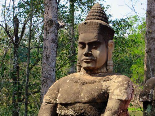 cambodia angkor statue
