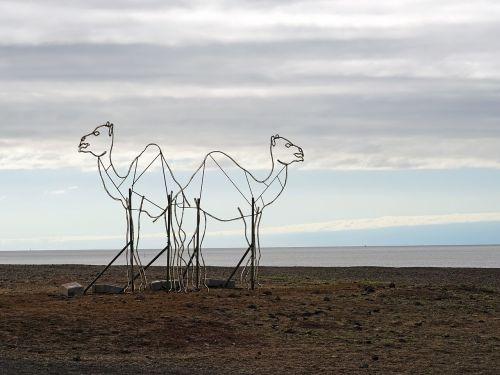 camels dromedary sculpture