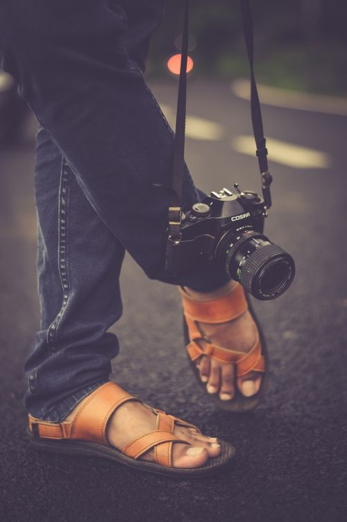 camera feet footwear