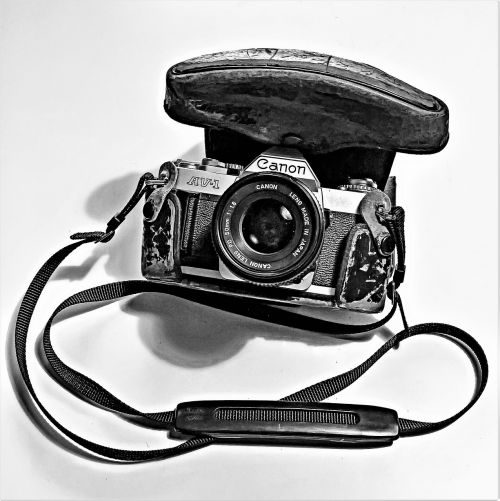 camera canon slr old baby