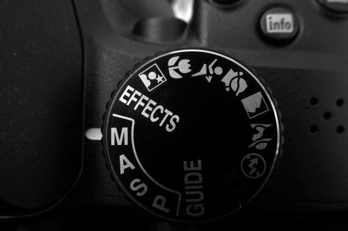 camera settings dial mode