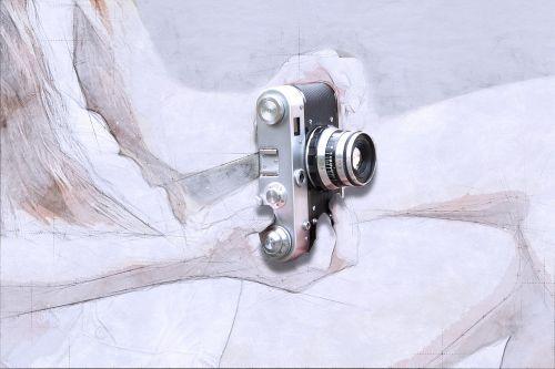 camera art abstract