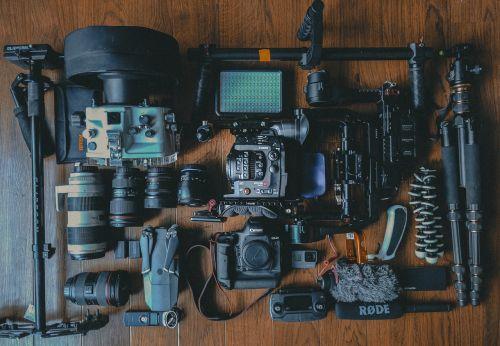 camera gear photoshoot