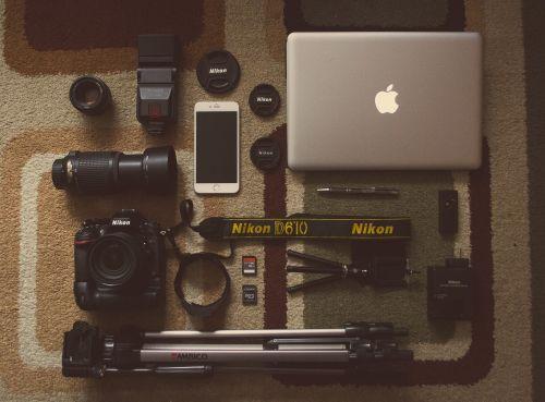 camera gear objects